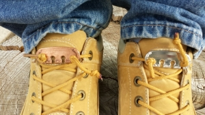 Never tie your work boots again