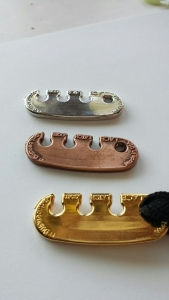 Metal plated lace latch made in the USA
