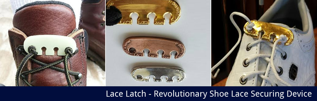 Metal plated Lace Latch to dress up your golf shoe game