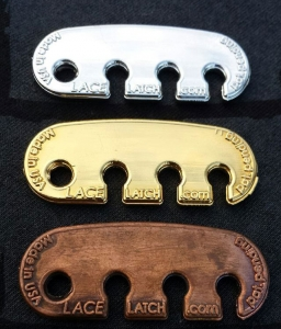 Metal coated Lace Latch for all shoe styles