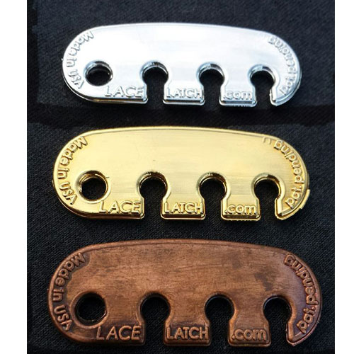 Metal coated Lace Latch for extra durability andf style