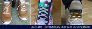 Shoelace securing device, Lace Latch